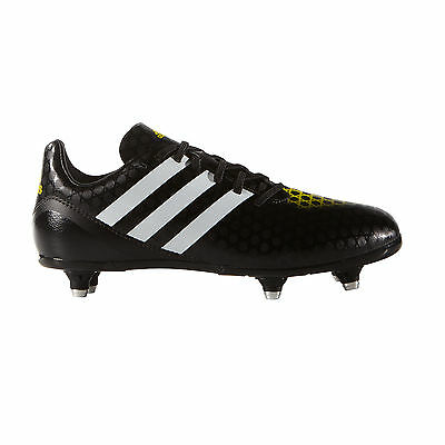 adidas Incurza SG Soft Ground Kids Rugby Boot Shoe Black/ Yellow