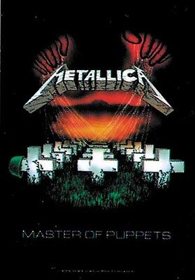 Metallica Master Textile Poster Banner Flag Officially Licensed Rock Music