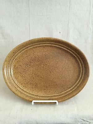 """1 - 12"""" Mojave Oval Platter Monmouth Pottery Mojave Brown Made In USA"""
