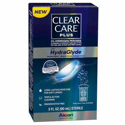 Clear Care Plus HydraGlyde Cleaning Solution, 3oz 300650363426S435