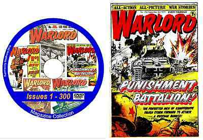 Warlord Issues 1 - 300 on DVD British Action Comic includes viewing software (1)