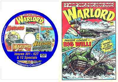Warlord Issues 301 - 627 &12 Specials on DVD Action Comic + viewing software (2)