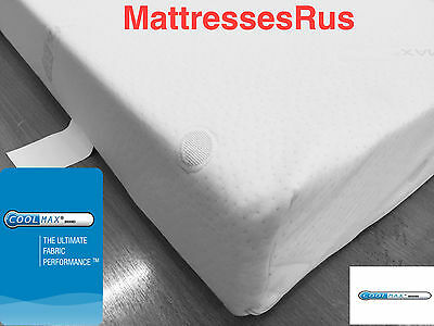 "Cool Max Memory Foam  Toppers With  Cover In 2"",3"",4"",5"",6"""
