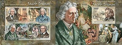 CA13220ab Central Africa 2013 Jacob Grimm MNH SET **