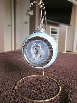 Bradford Exchange 'Silver Scout' Wolf Ornament 1997