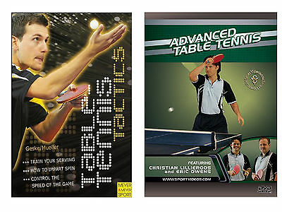 Table Tennis Tactics Book and Advanced Table Tennis DVDs - Free Shipping