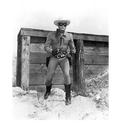 The Lone Ranger Clayton Moore Close Up Ready Fight 8 x 10 inch photo