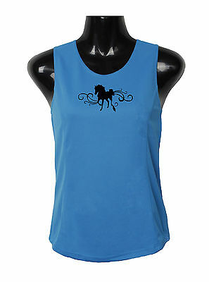 Horse Singlet Top Horse With Scrolls Brand New Moisture Wicking Fabric