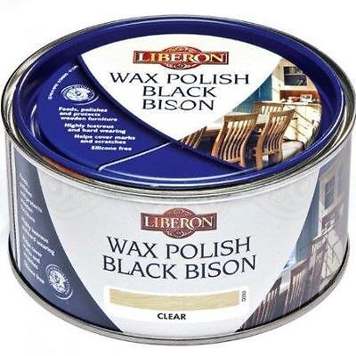 Liberon Black Bison Wax Polish - Feed, Polish, Protect - Clear - 500ml - New!