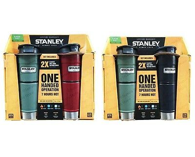 Stanley Classic One Handed Vacuum Flask/Mug/Tumbler Twin Pack 473ml each