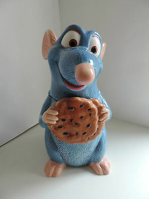 Disney Ratatouille Cookie Jar Biscuit Tin Storage Ceramic Figure Pixar Ornament