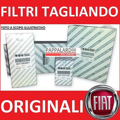 Kit Tagliando Filtri Originali Fiat Grande Punto 1.4 Natural Power Metano Dal'05
