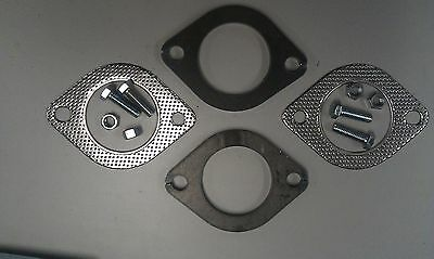 "EXHAUST FLANGE PLATES 63mm 21/2""INCH GASKETS & BOLTS"