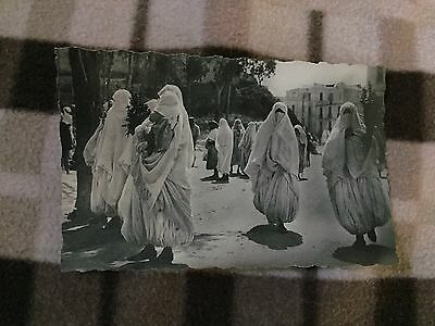 Real photo  North African Arab Women in Traditional Dress
