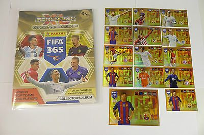 FIFA 365 2017 PANINI Adrenalyn COMPLETE FULL SET 423 CARDS +14 limited xl, xxl