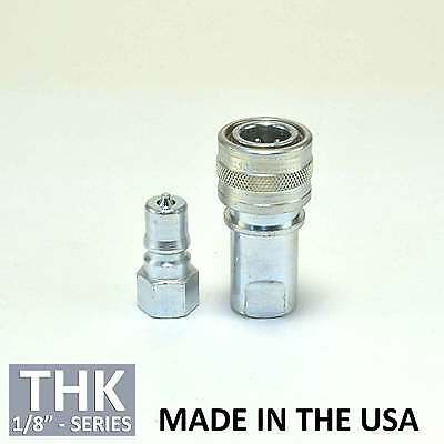 "Foster FHK Series 1/8"" H1S K1S Steel ISO B Hydraulic Quick Connect Coupler Plug"