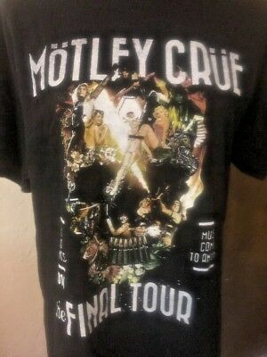 Motley Crüe Final Tour Bad Things Come To End T-shirt 2015 Large