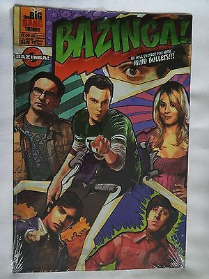 The Big Bang Theory BAZINGA! (NEW) Embossed Metal Comic Book Sign (Wall Décor)