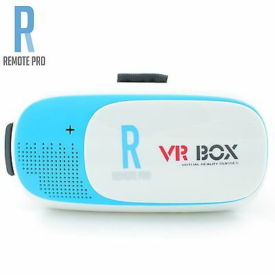 VRBOX Google Cardboard V2.0 VR Box Headset Kit Lens Virtual Reality Glasses Blue