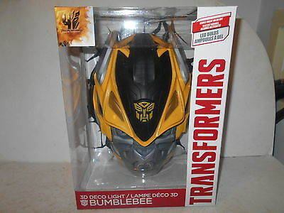 "Transformers Age of Extinction ""BUMBLEBEE"" 3D Deco Wall Light - NEW"