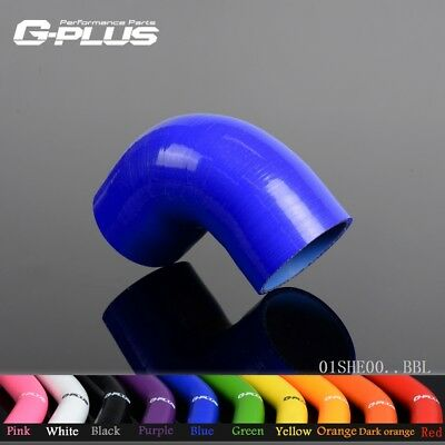 "4"" 102MM 90 Degree Silicone Hose Elbow Hose Intercooler Pipe Hose Turbo Blue"
