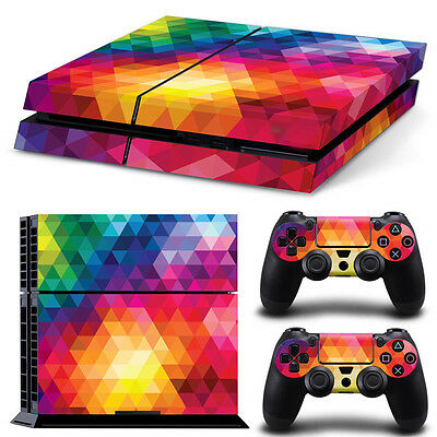 Skin Sticker Vinyl Decal Cover For PlayStation 4 PS4 Console+Controllers 0242#