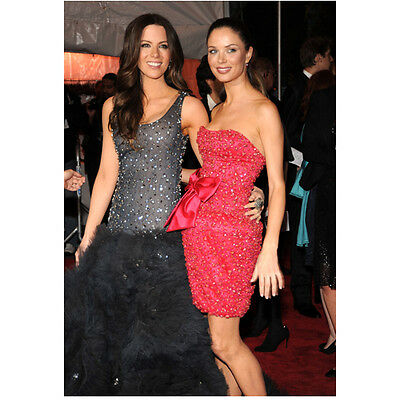 Kate Beckinsale in Black Sparkly Posing with Fellow Actress 8 x 10 inch photo