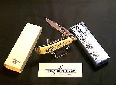 Schrade 503 Lock Knife Two Bass Trapper Great American Outdoors W/Packaging Rare