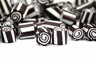 1kg Rock Candy Aniseed Swirls Black Candy Birthday Party Wedding Favours