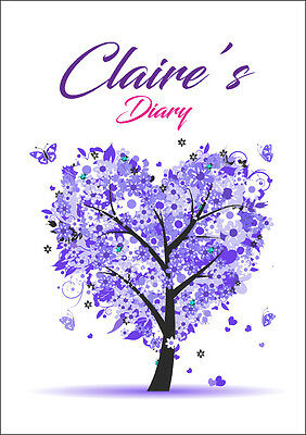 2018 diary personalised purple tree A5