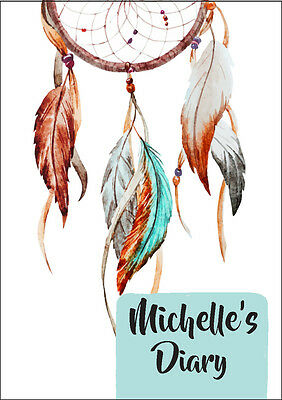 2019 diary personalised dreamcatcher feathers A5