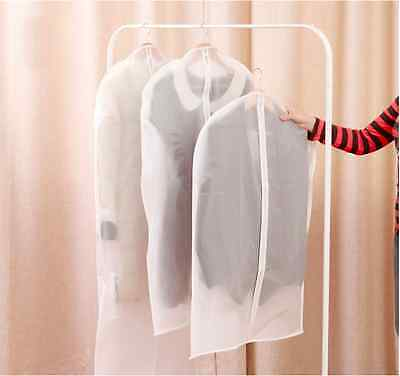 Large 60*137cm Garment Bag Suit Dress Overcoat Clothes Dust proof PEVA Cover