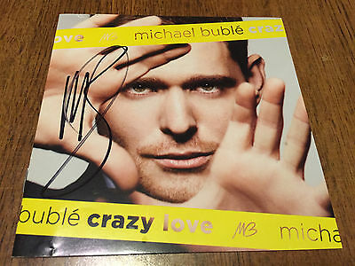 MICHAEL BUBLE Autographed CD Booklet Crazy Love Signed Auto RARE!