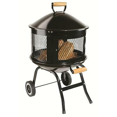 Portable Fire Pit Wheels Outdoor Patio Deck Fireplace Wood Burning Stove Heater 120 95 Picclick