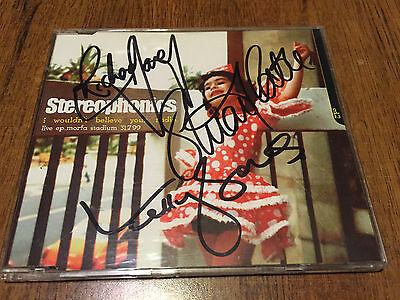 STEREOPHONICS Autographed CD I Wouldn't Believe Your Radio - Morfa Stadium RARE!