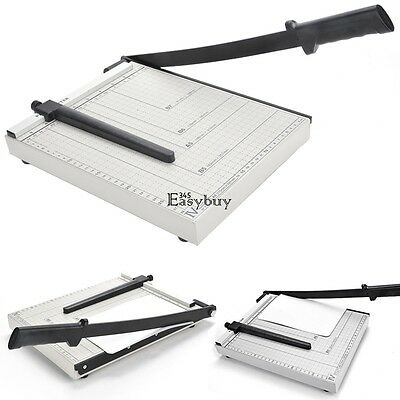 """NEW 12"""" A4 to B7 Size Metal Paper Cutter Card Photo Guillotine Trimmer 12 Sheets"""