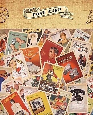 UK Lot of 32 Mixed Vintage Postcards Retro Advertising Movie Travel Post Cards