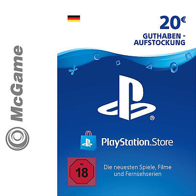Playstation Network Card 20 Euro | PSN | PS4, PS3, PSP, PS Vita | Neu & OVP