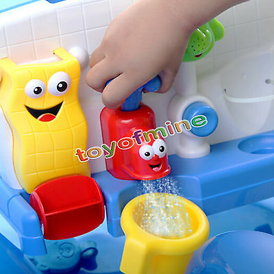 Bath Toys Water Faucet Taps Spout Spray Shower Water Play For Kid Baby