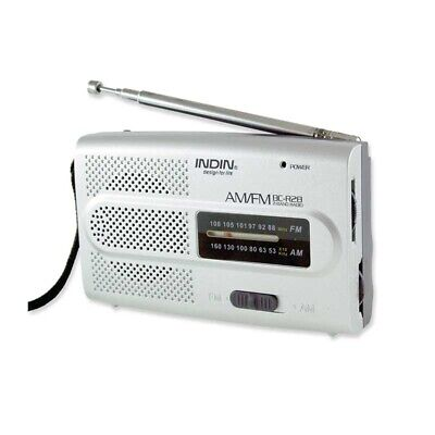 Portable Radio FM/AM Pocket Size Built-in Speaker Headphone Jack BC-R28