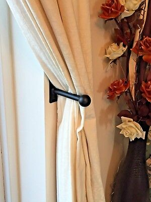 Hand Forged Ball End Wrought Iron Metal Curtain Hold Backs Tie Backs
