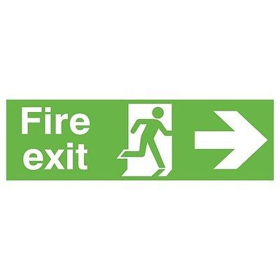 Safety Sign Niteglo Fire Exit Running Man Arrow Right 150x450mm PVC FX04411M