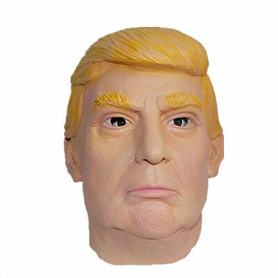 Donald Trump Mask Silicone Primary USA Selection Presidential Cosplay Yellow