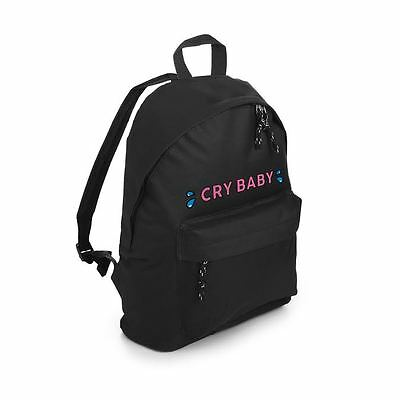 Cry Baby Backpack School Bag Fashion Tumblr Hipster Girl Slogan  Cute Kawaii