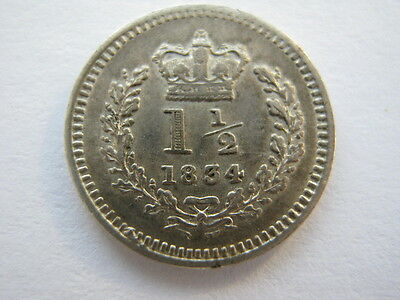 1834 Threehalfpence VF