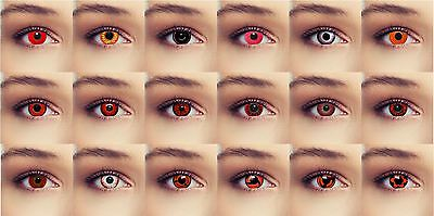 Halloween Scary Zombie Contact Lenses Lentilles Crazy Monster Costume Red Color