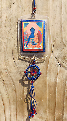 Medicine  Buddha  Protection Car Hanging Amulet-Buddhist Ritual from Everest