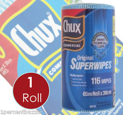 Chux Wipes Superwipes 65m roll x 30cm - 116 Wipes