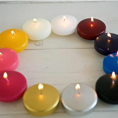 8x Extra Large Floating 8/10 Hour Tealight Candles Wholesale Bulk Buy Wedding