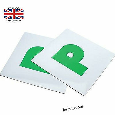 **2 X Magnetic Just Passed Pass New Driver Green P Plate Plates For Car Vehicle*